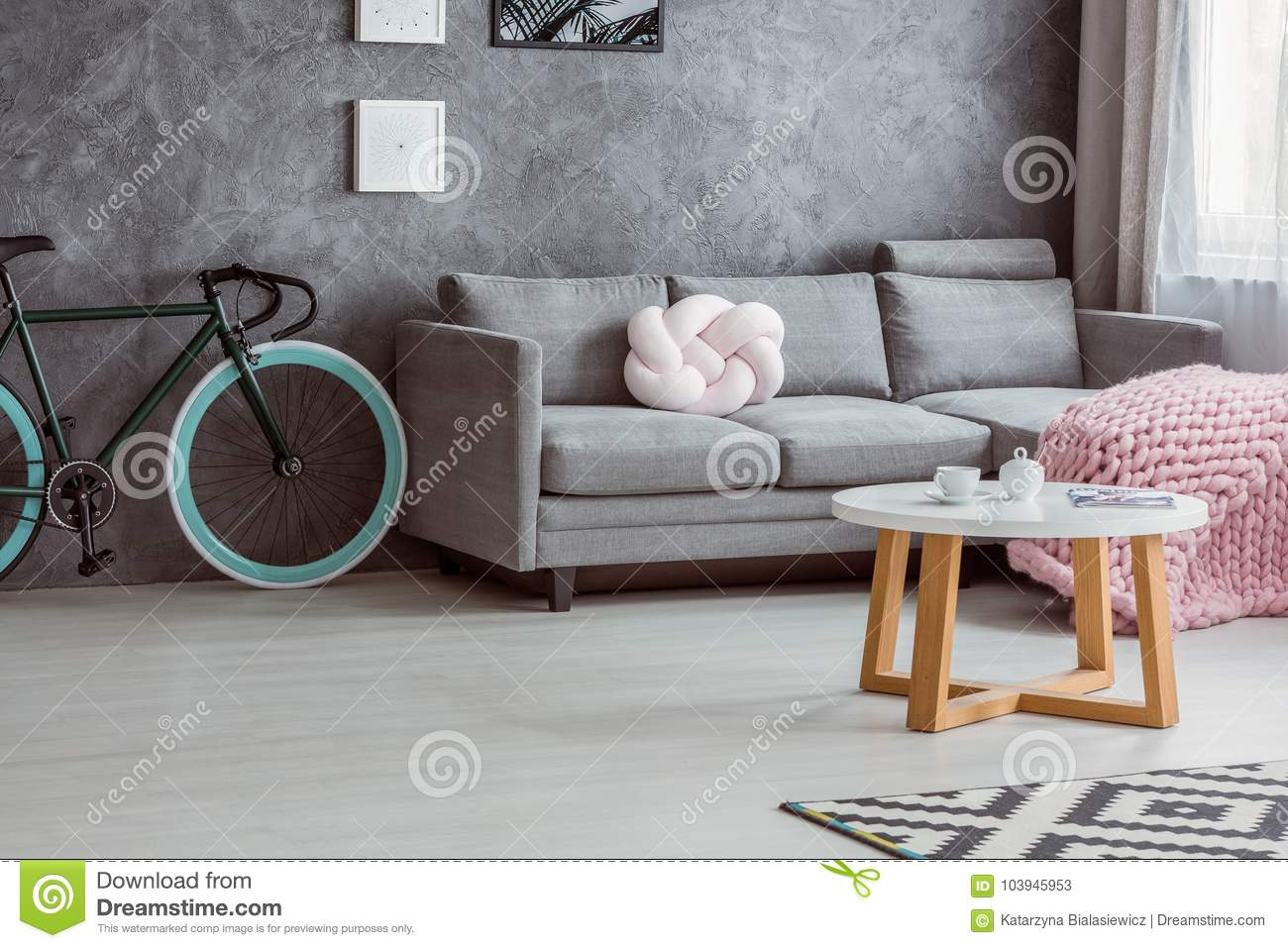 Bicycle And Simple Couch