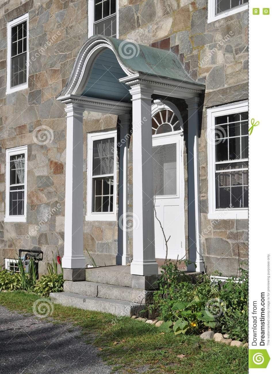 Side door at historic hearthside house stock images for Side doors for houses