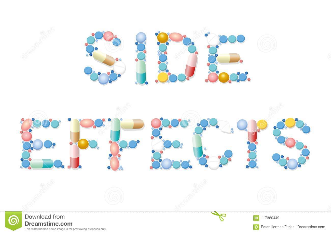 Side Effects Pills Medicine Word