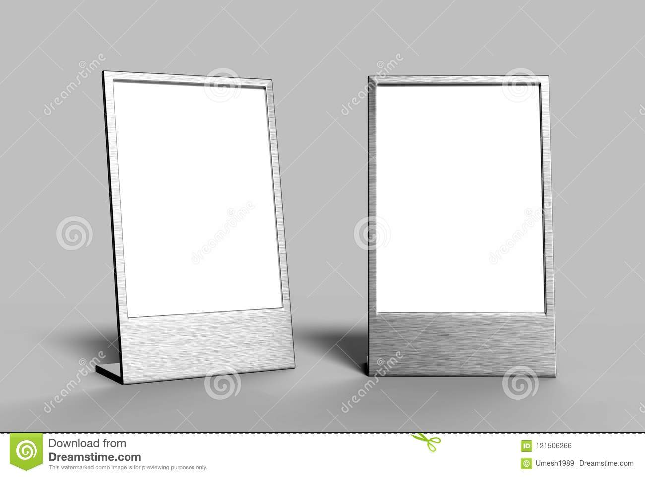 Picture of: Side Loading Slide In Metal Frame Table Top Counter Blank White 3d Render Illustration Stock Illustration Illustration Of Empty Display 121506266
