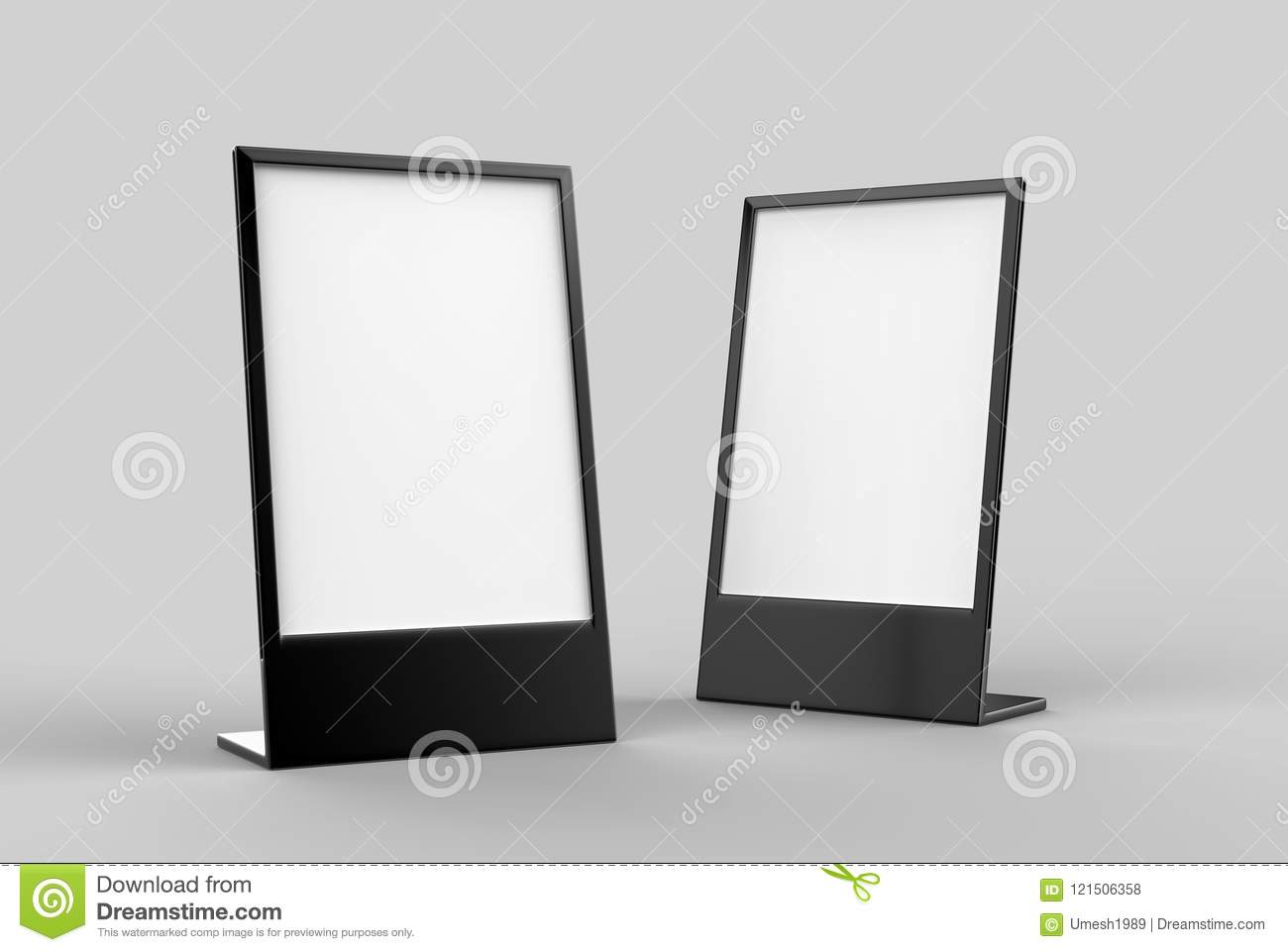 Picture of: Side Loading Slide In Metal Frame Table Top Counter Blank White 3d Render Illustration Stock Illustration Illustration Of Black Market 121506358