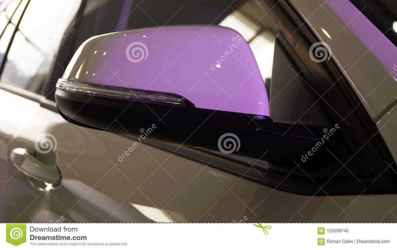 Side Mirror Of A Modern Car With Backlight Stock Image Image Of
