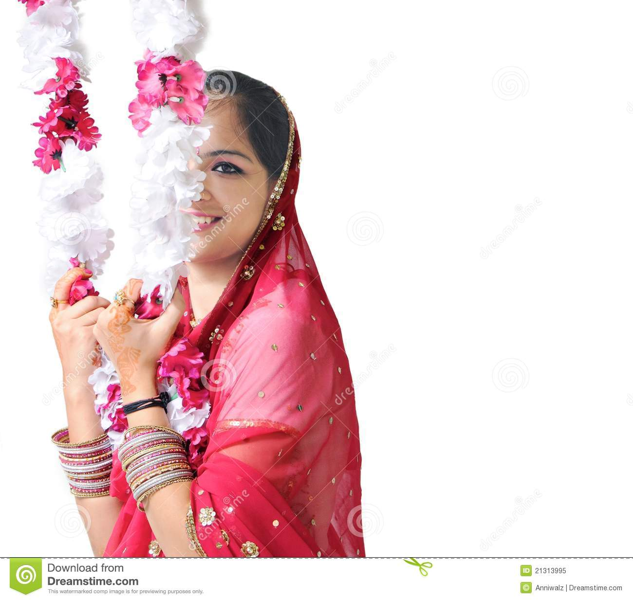 Side Pose Of A Beautiful Indian Girl Royalty Free Stock