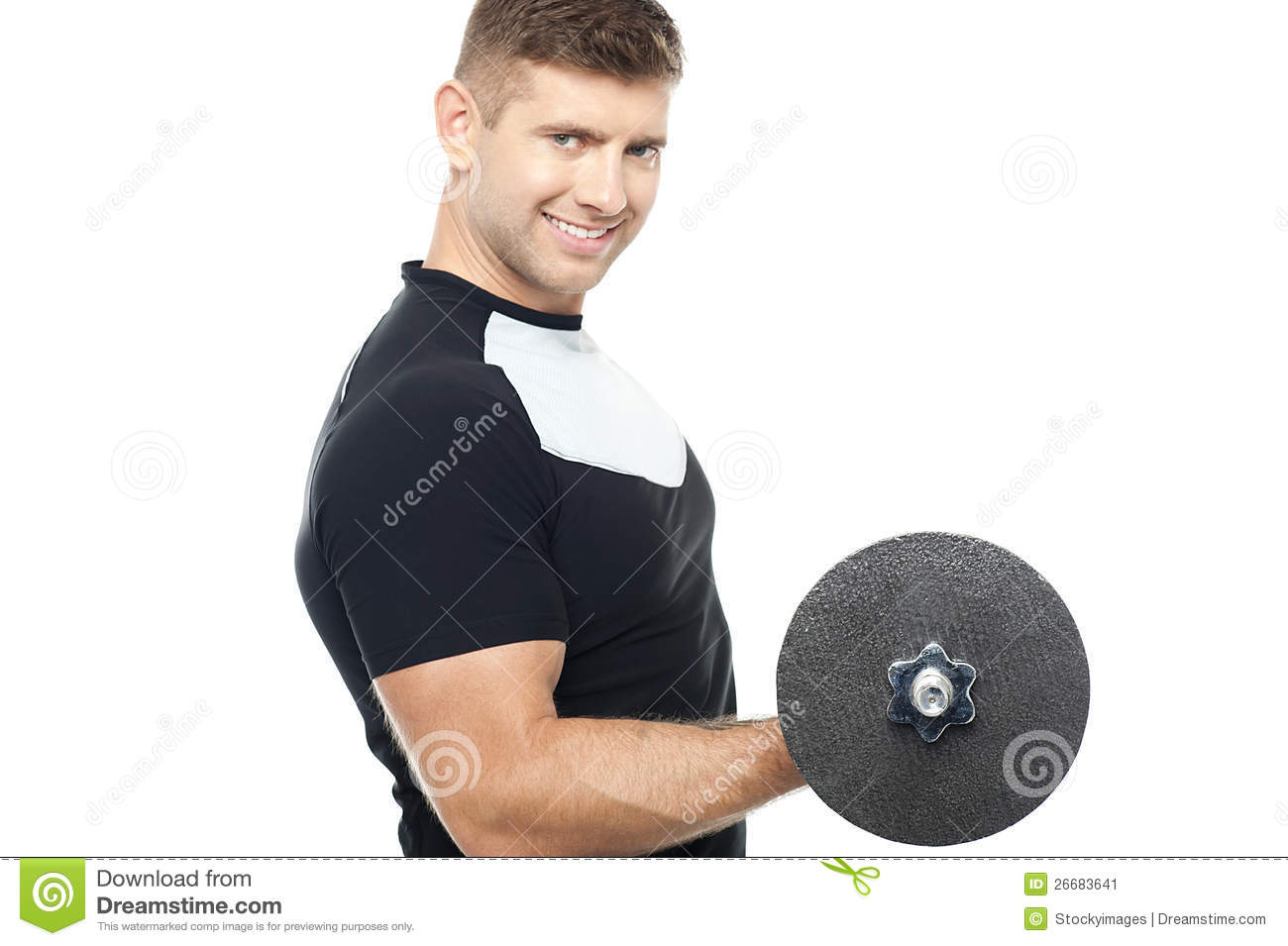 Young Gym Instructor Toning His Biceps Stock Photos - Image: 26824003