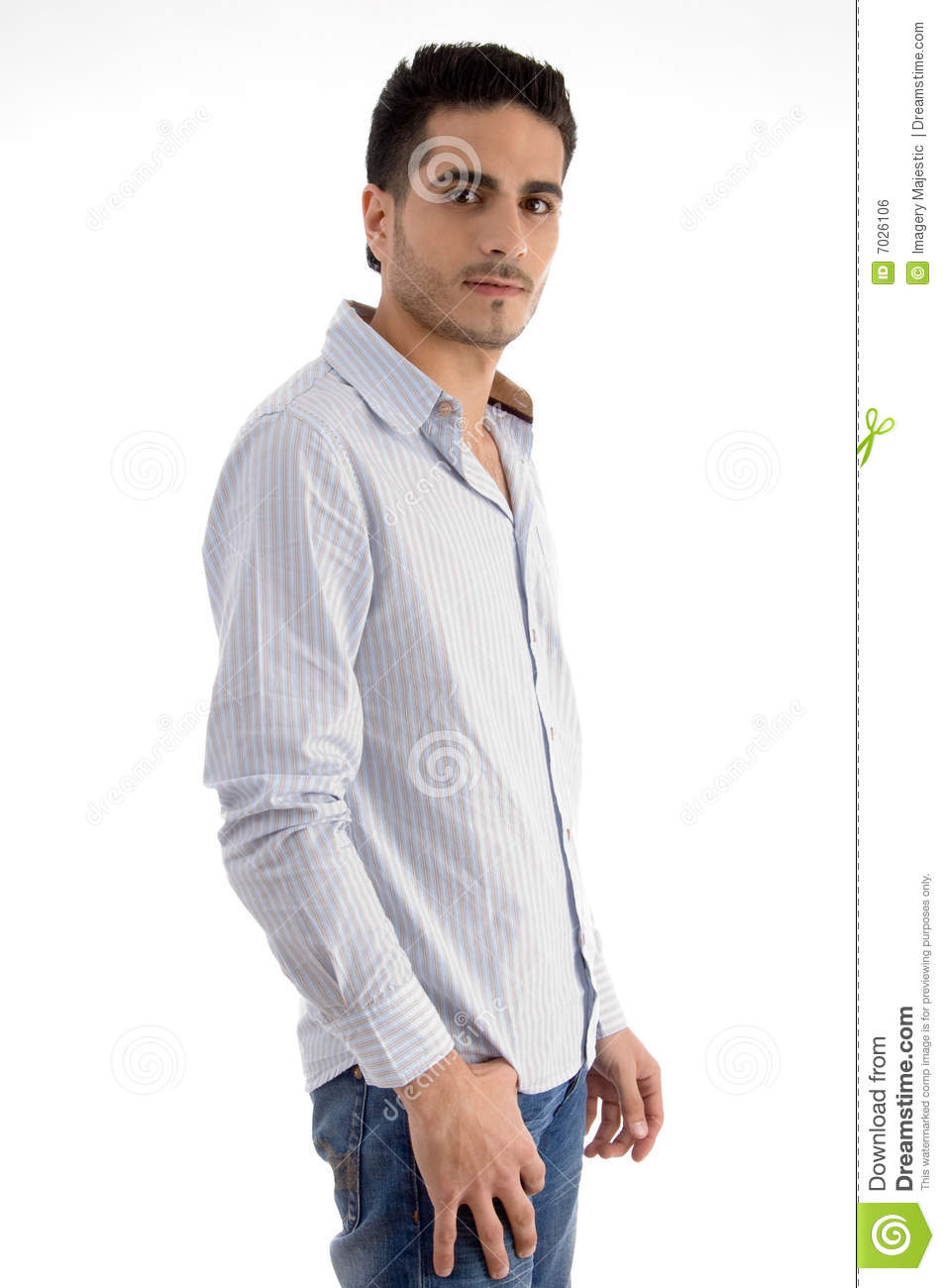 Side pose of standing man stock photo. Image of expression ...