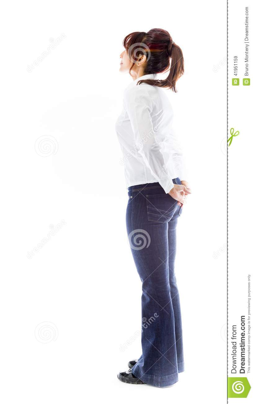 Side Profile Of An Indian Young Woman Looking At Distance