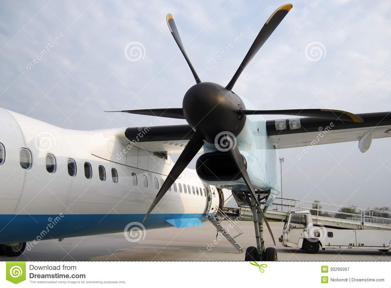 Propeller Of The Plane With Airplane Royalty Free Stock Photography ...