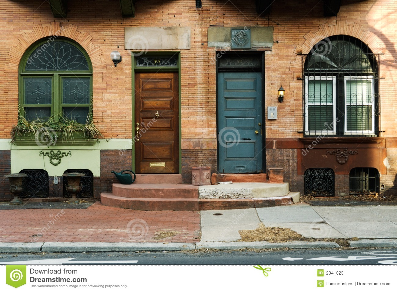 Side By Side Stock Image Image Of City Entry Buildings