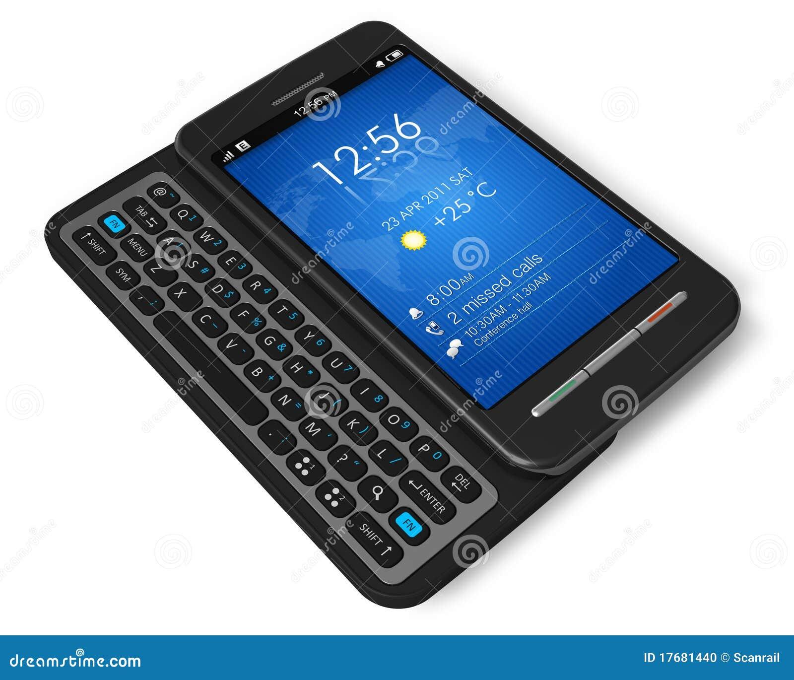 side slider touchscreen smartphone stock illustration image 17681440. Black Bedroom Furniture Sets. Home Design Ideas