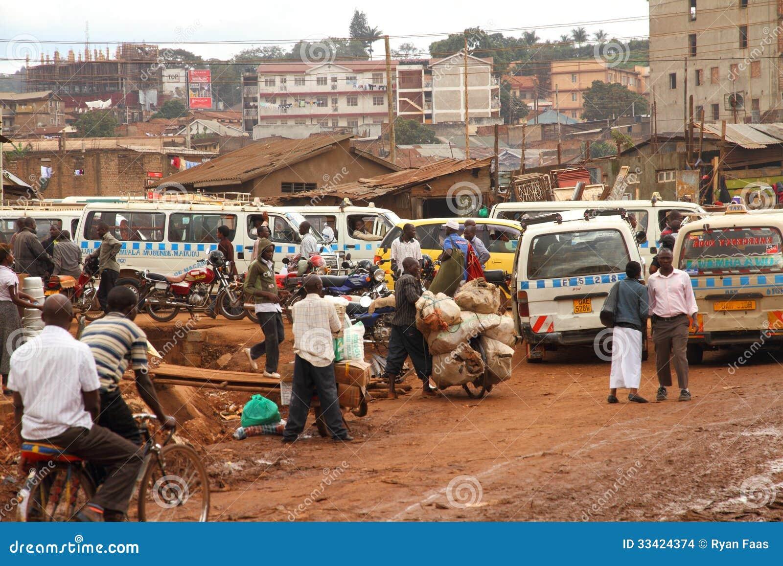 Side Street Life Of Kampala Editorial Stock Image - Image