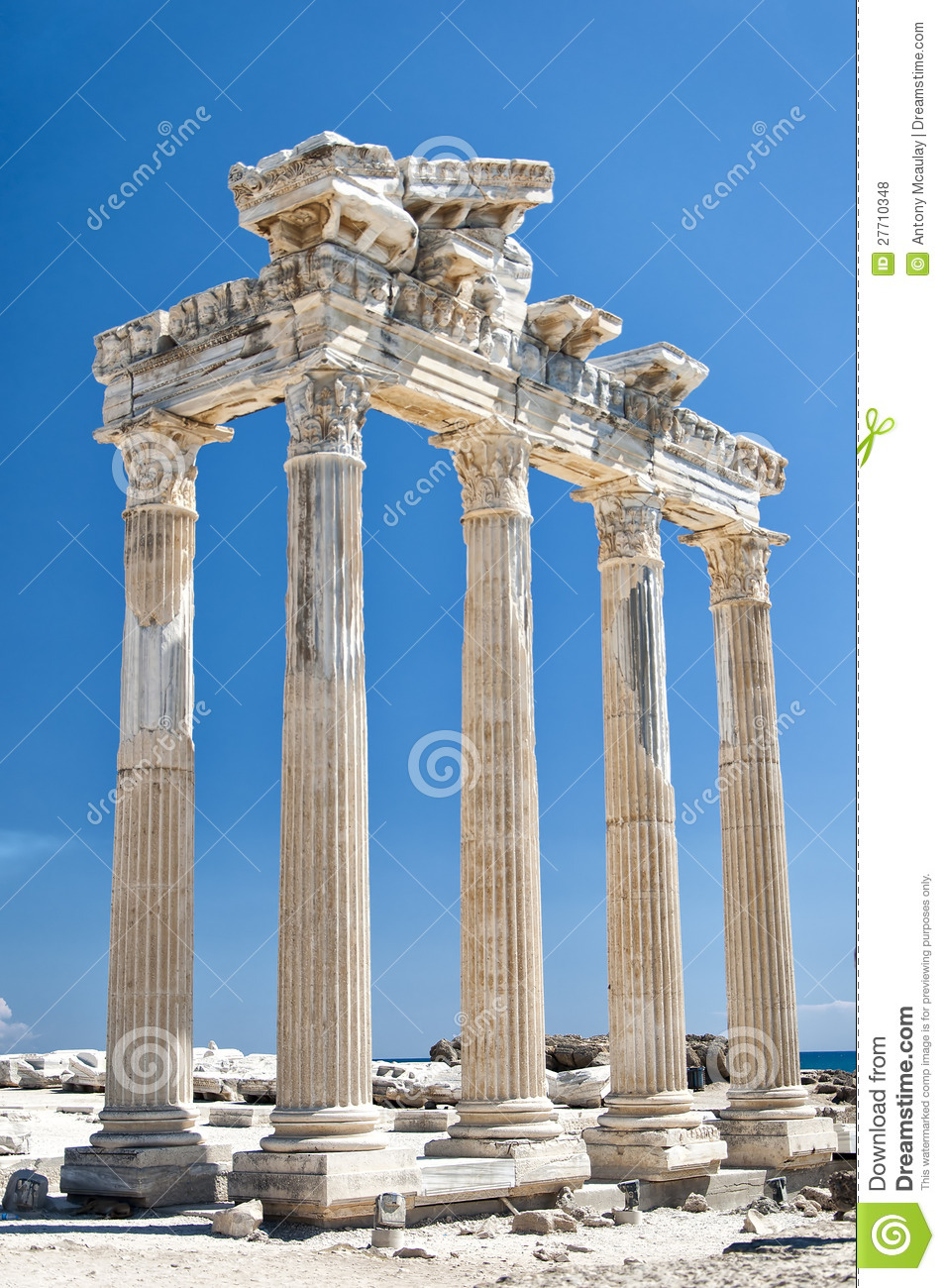 Side Temple Of Apollo 04 Royalty Free Stock Photos - Image ...