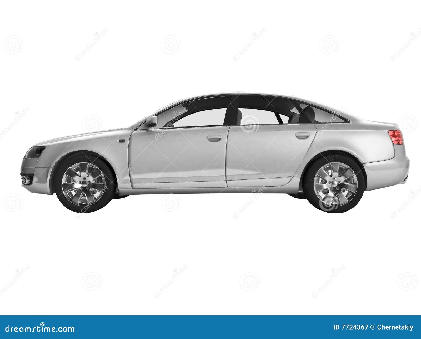 auto on white backgrou...