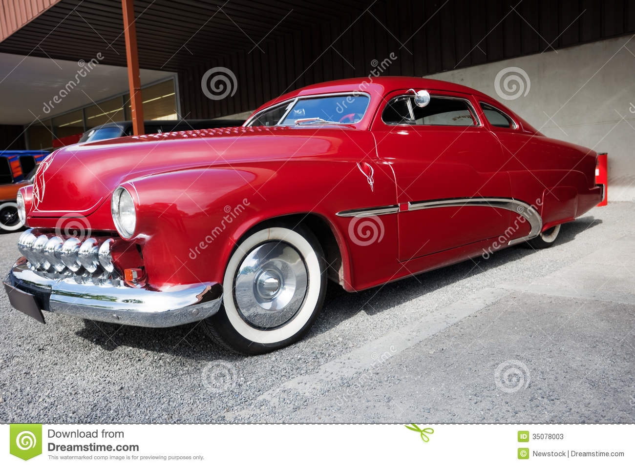 Side View Of American Classic Car Stock Image - Image: 35078003