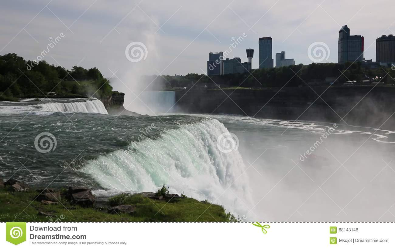 Side View At American Niagara Falls Stock Footage Video Of