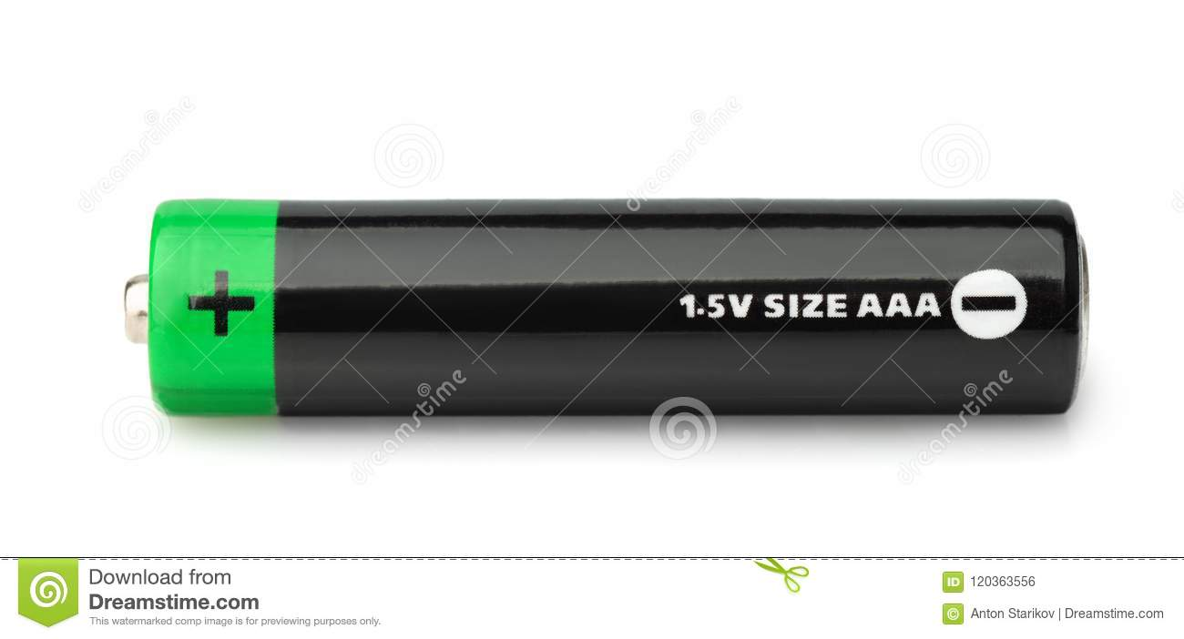 Side View Of Black Aaa Type Battery Stock Photo Image Of Cell