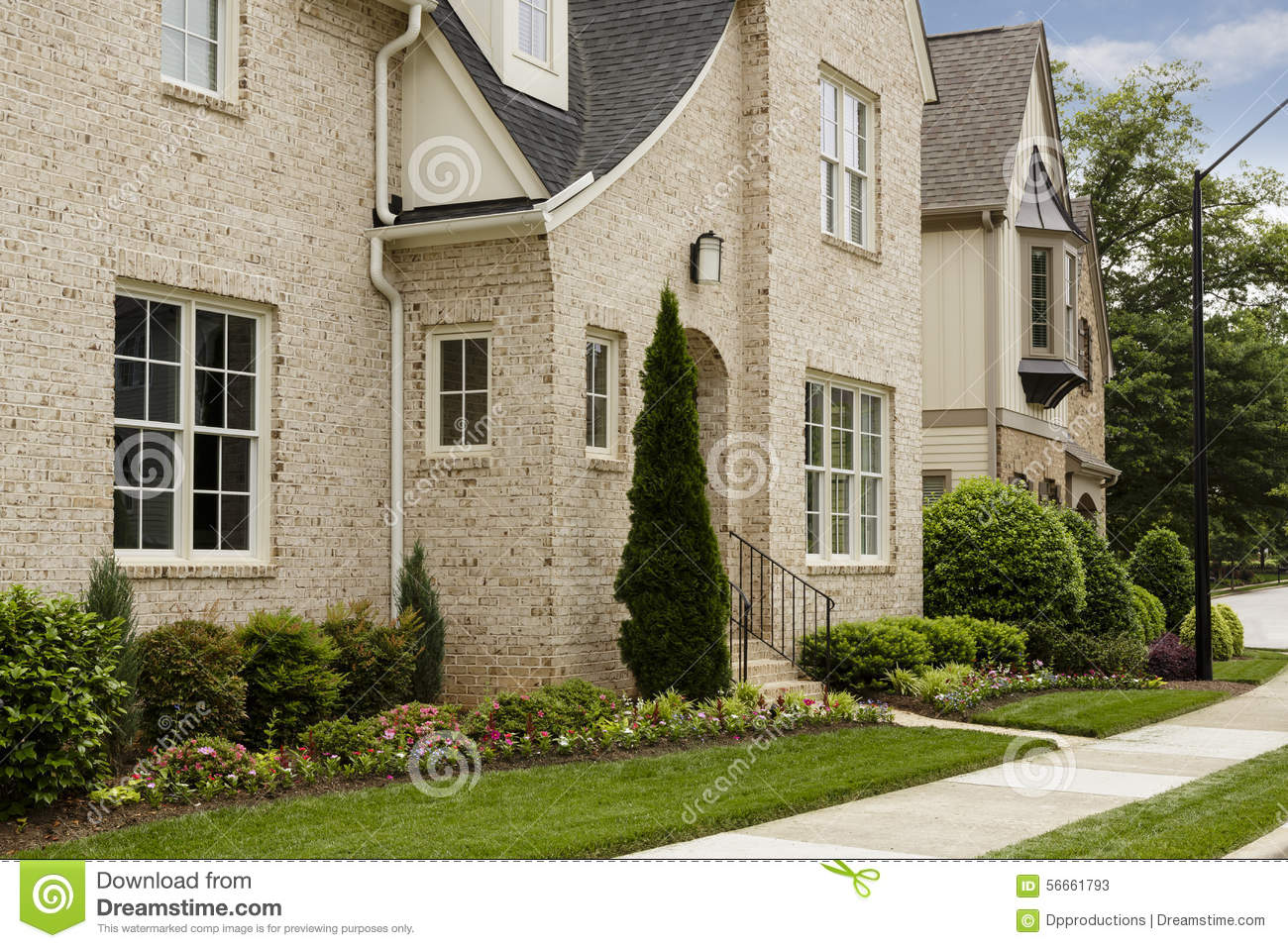 Side View Of Brick House Stock Photo Image 56661793