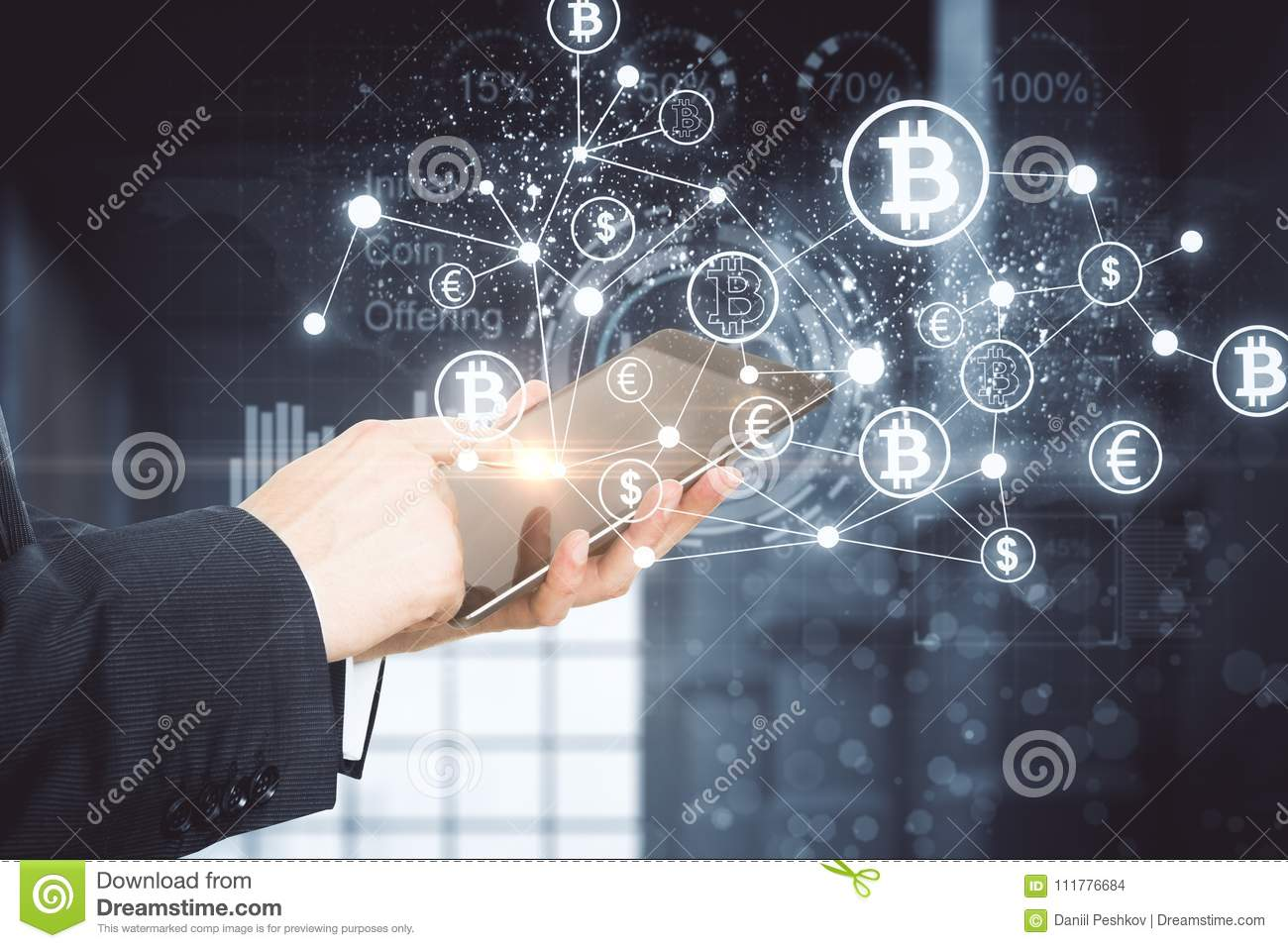 Cryptography and technology concept
