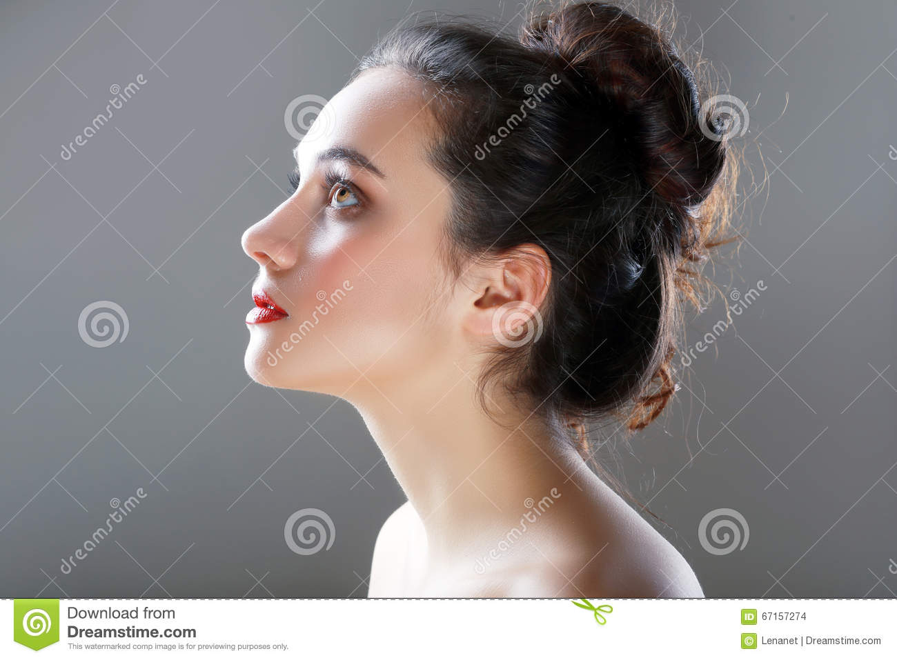 Profile view girl