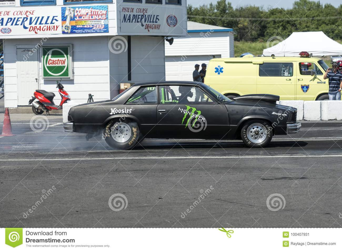 Drag Car In Action Editorial Photo Image Of Making 100407931