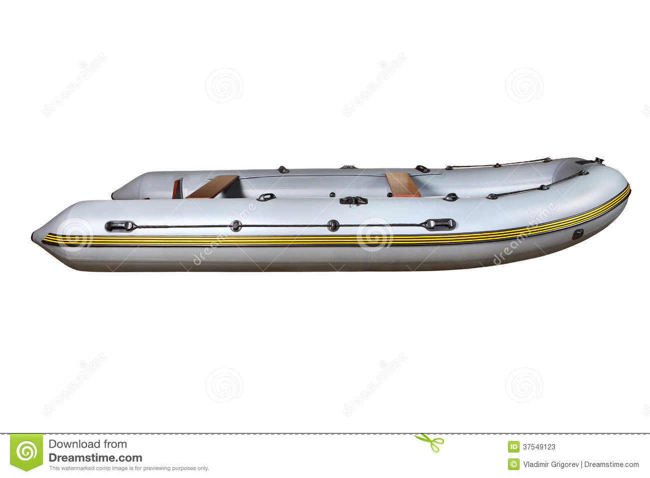 ... Gray Inflatable Rubber Boat Dinghy PVC. Stock Photos - Image: 37549123