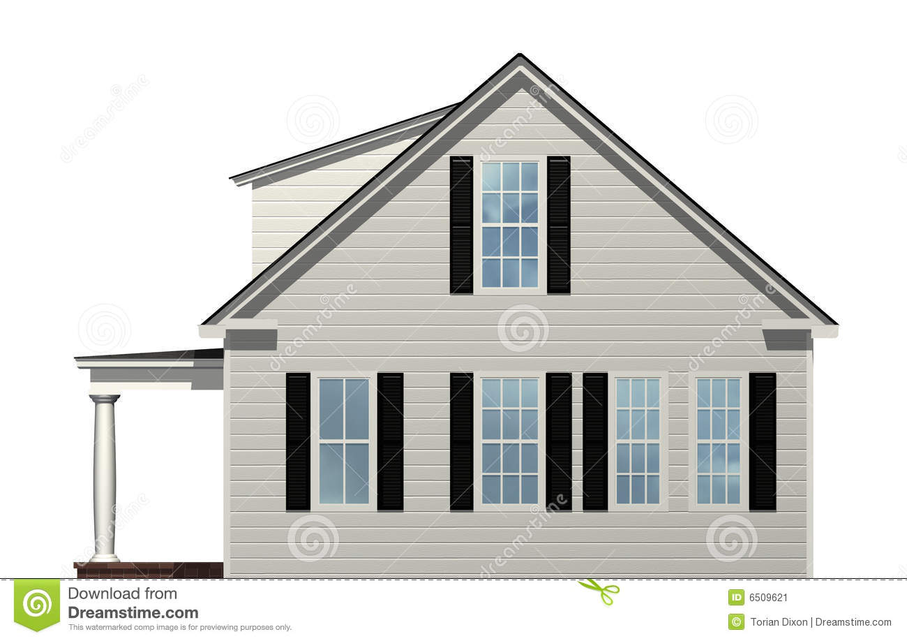 Side View Of House Stock Image Image 6509621