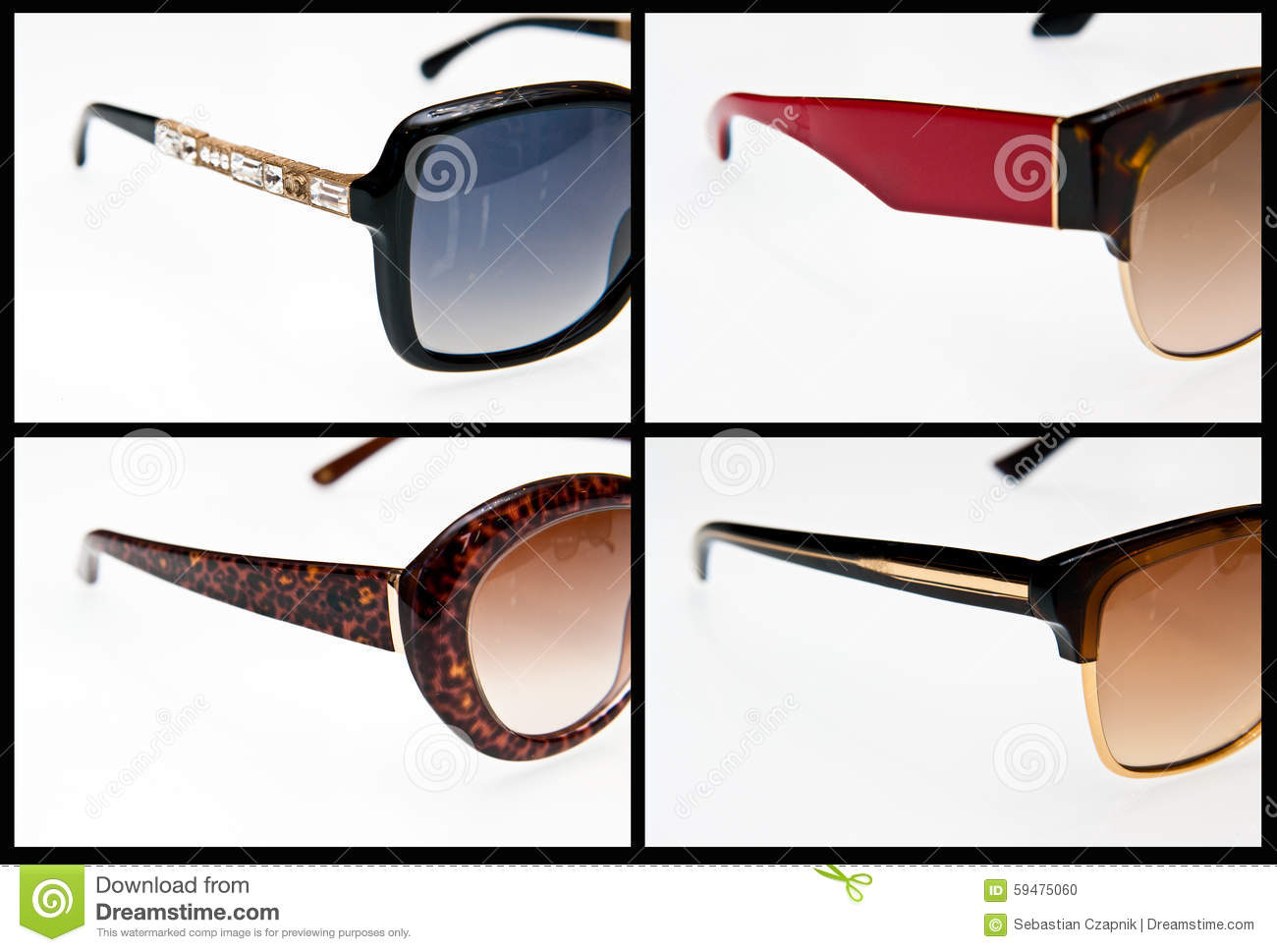 Side view of luxury sunglasses stock photo image