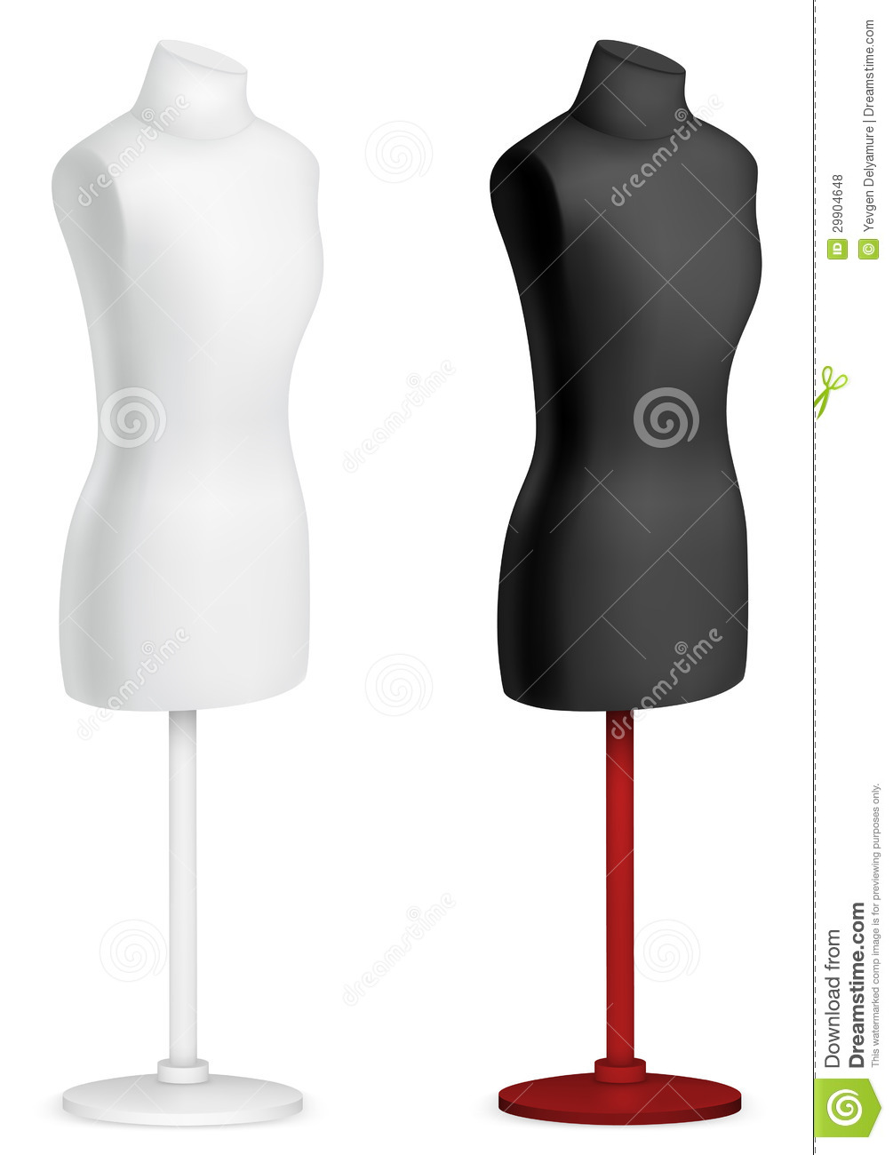 Empty Female Mannequin Torso Template. Royalty Free Stock ...