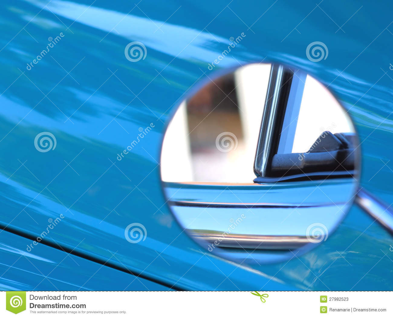Side View Mirror On Classic Car Stock Photos Image 27982523