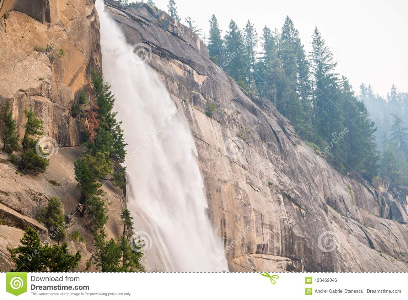 Side view of Nevada Falls