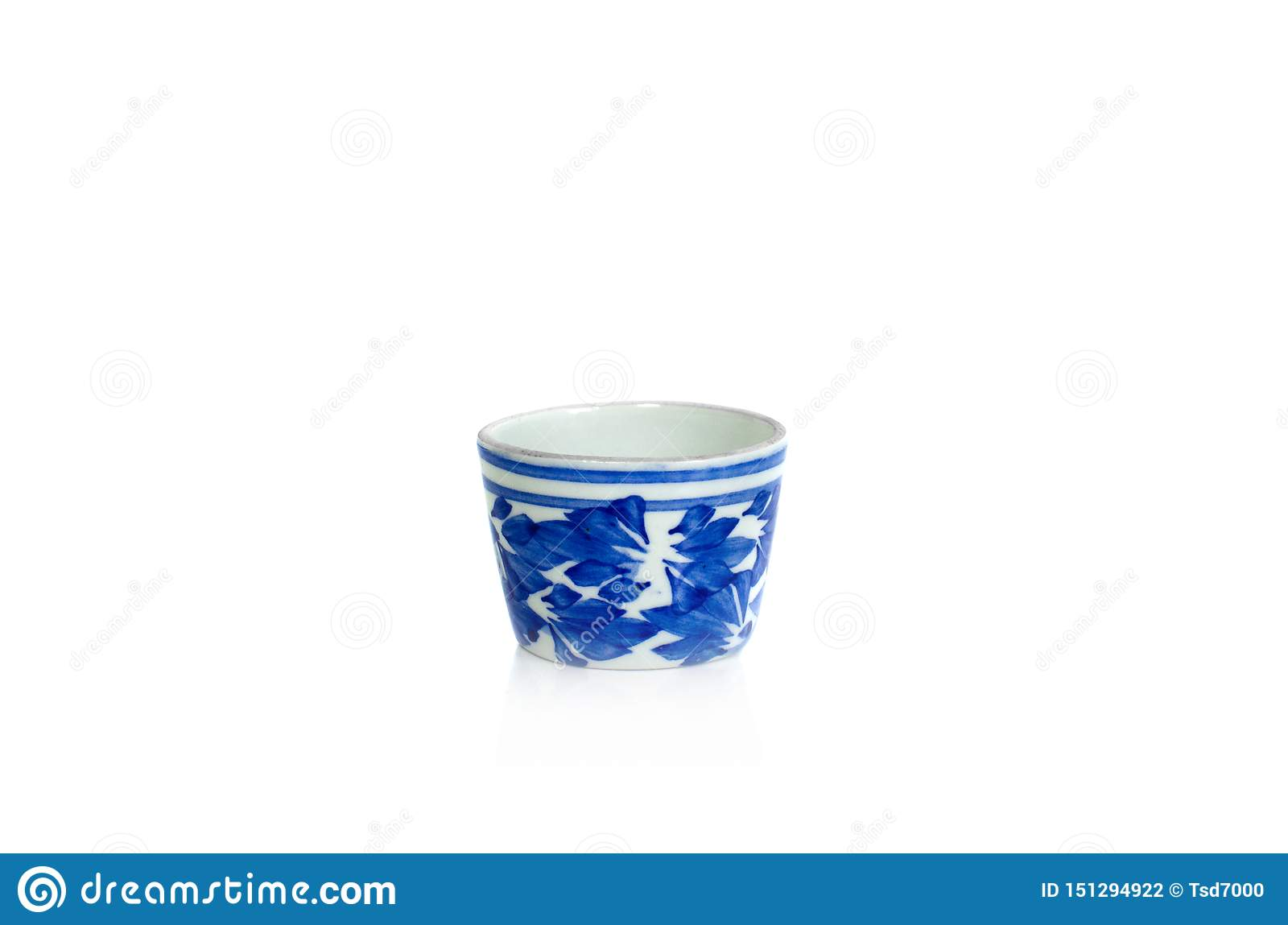 Porcelain tea cup isolate on white background