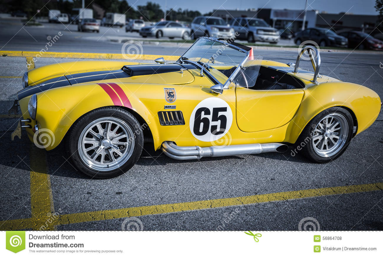 Side View Of Old Race Sport Vintage Retro Classic Car Editorial ...