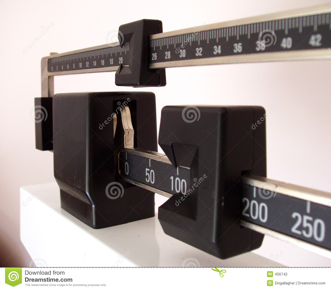 Download Side view of scale stock photo. Image of diet, self, waist - 456742