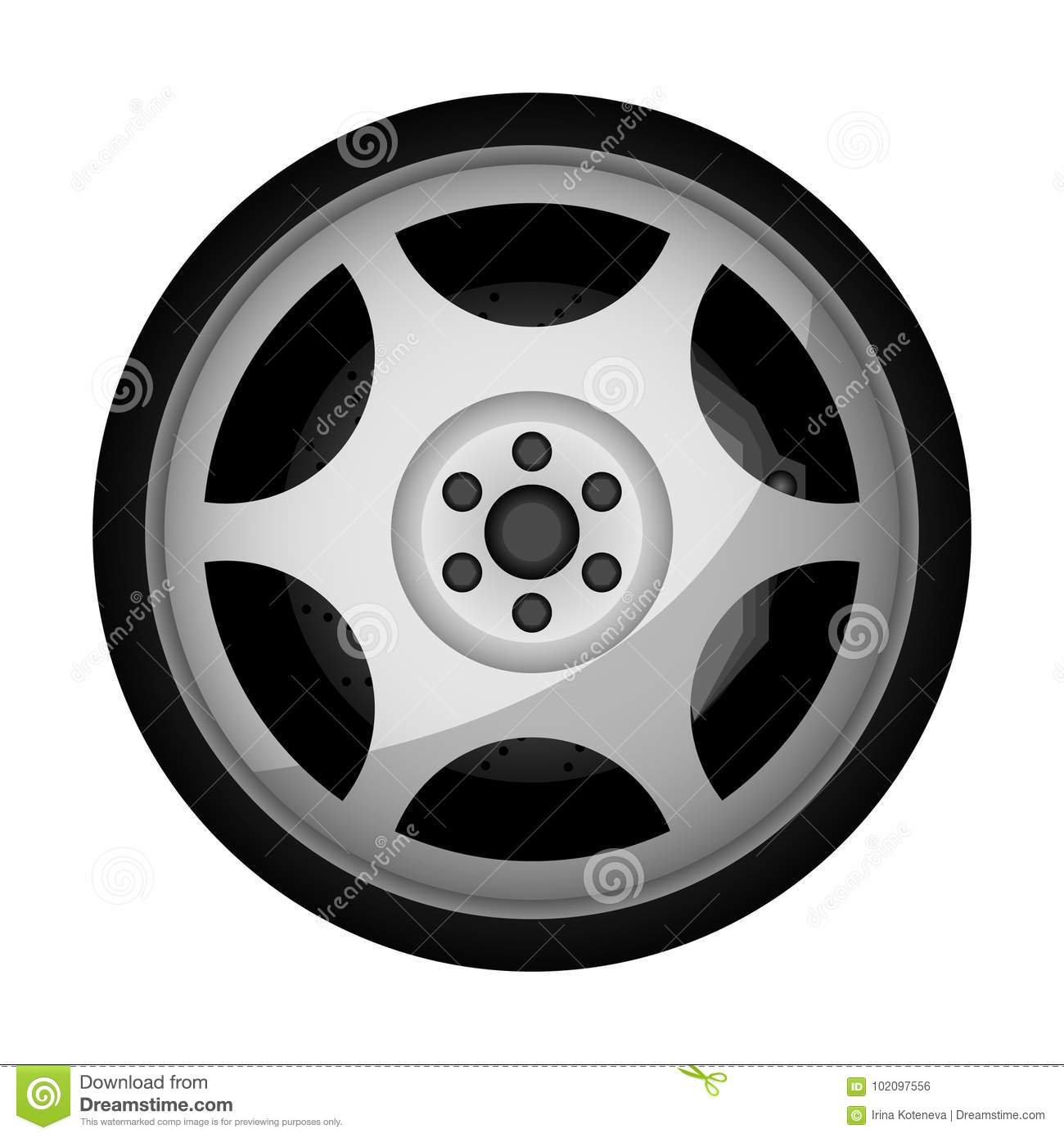 1ebede44114e16 Side view sports racing car wheel icon. Consumables for car, auto service  concept, wheel vehicle isolated on white background vector illustration.