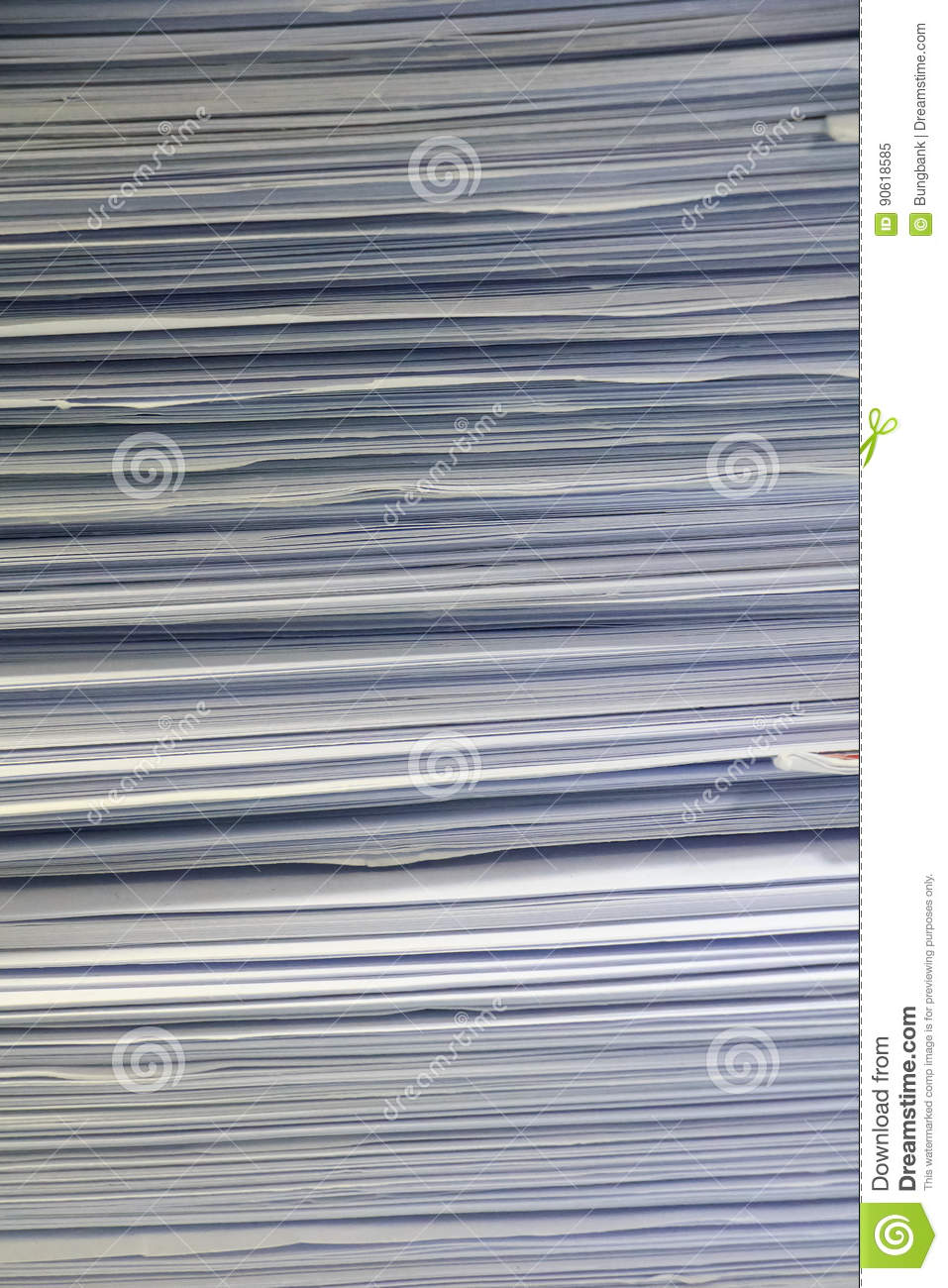 Side View Of A Stack Of Magazines Royalty-Free Stock ...