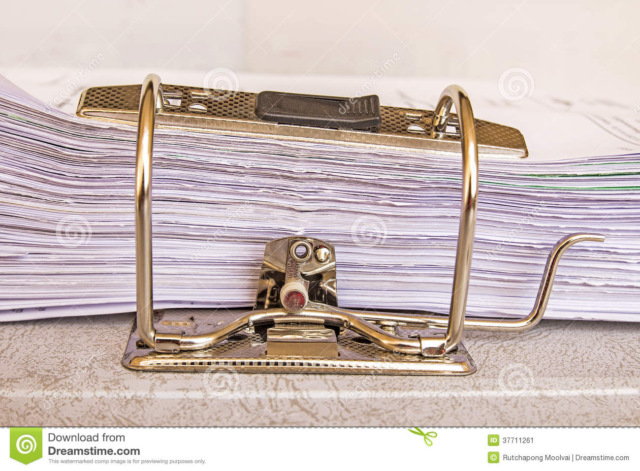 Side View Of Stack Of Used Papers Stock Image - Image ...