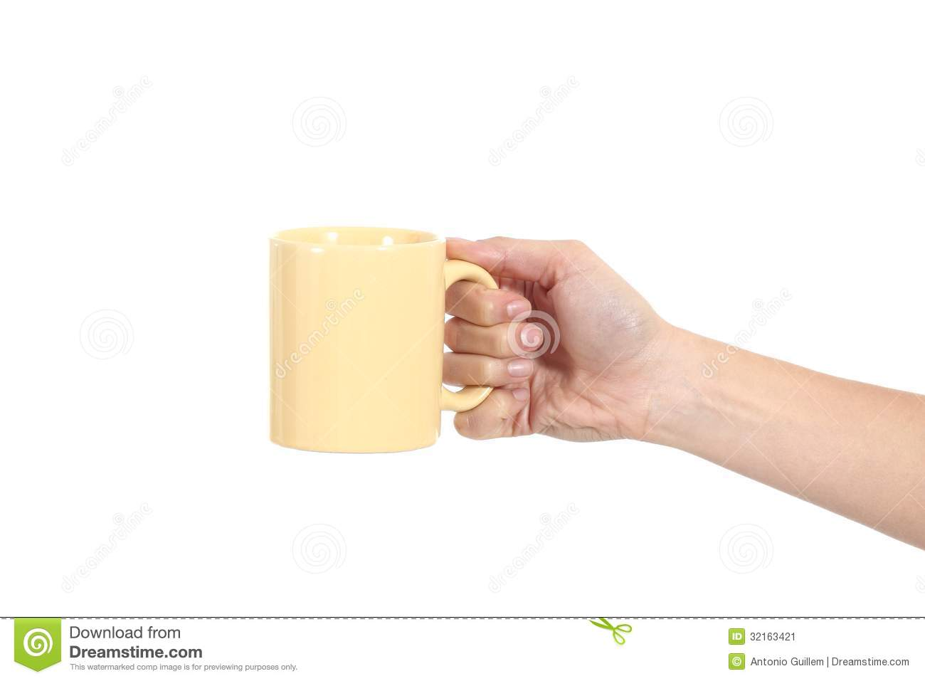 Side View Of A Woman Hand Holding A Cup Stock Image