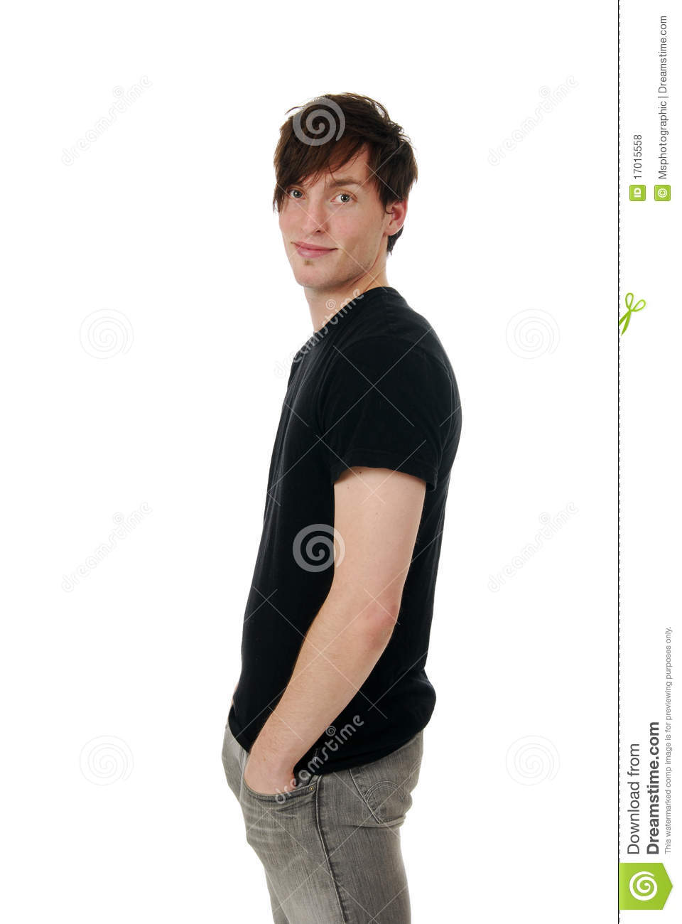 Side view of a young man stock photo. Image of background ...