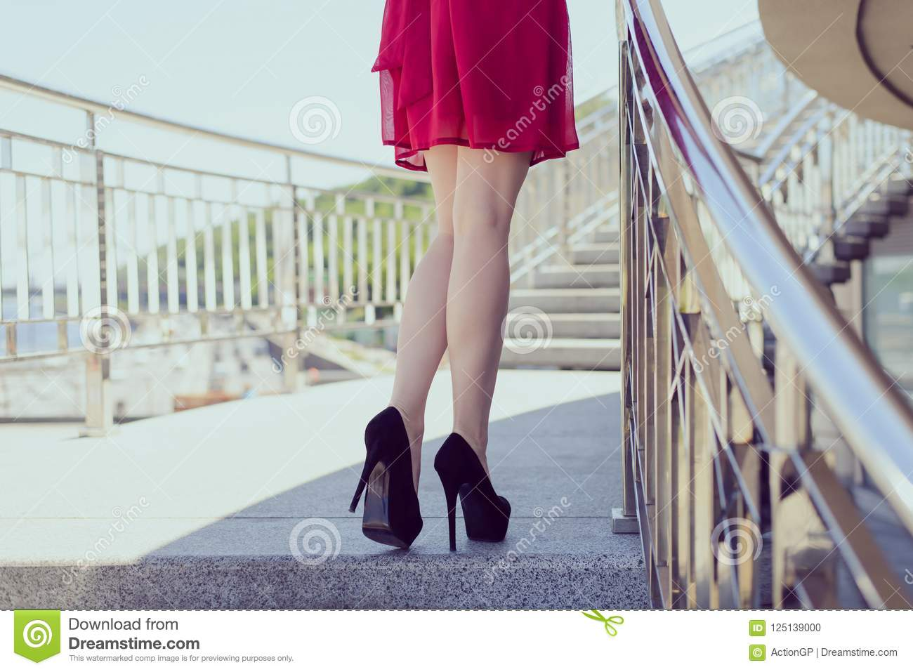 Side walk people person buttocks take go run posing concept. Rear back behind close up view photo of sexual tempting seductive