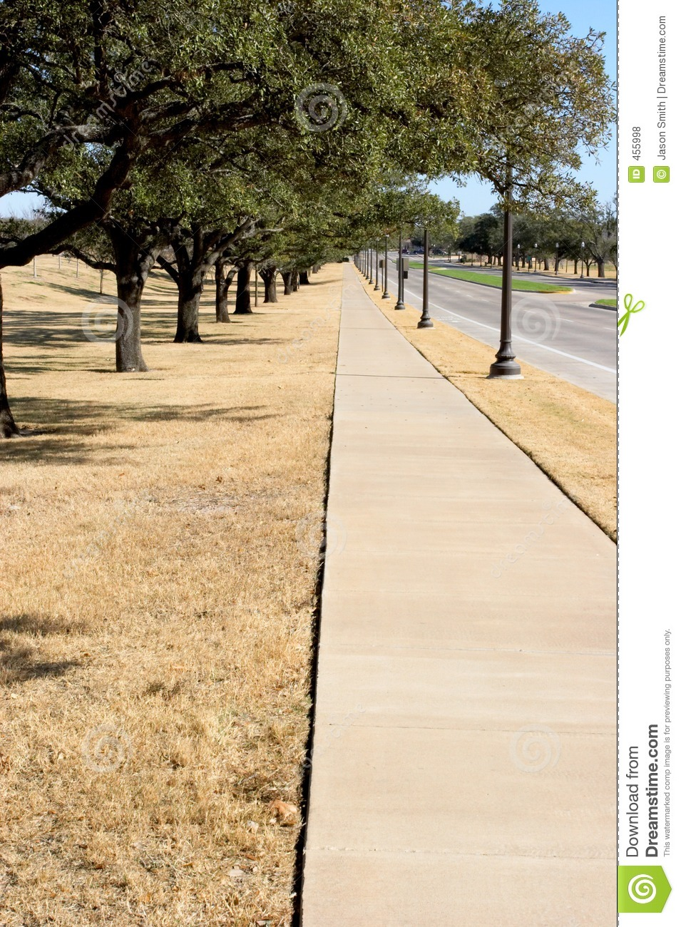 Download Sidewalk stock photo. Image of road, fall, guide, forever - 455998