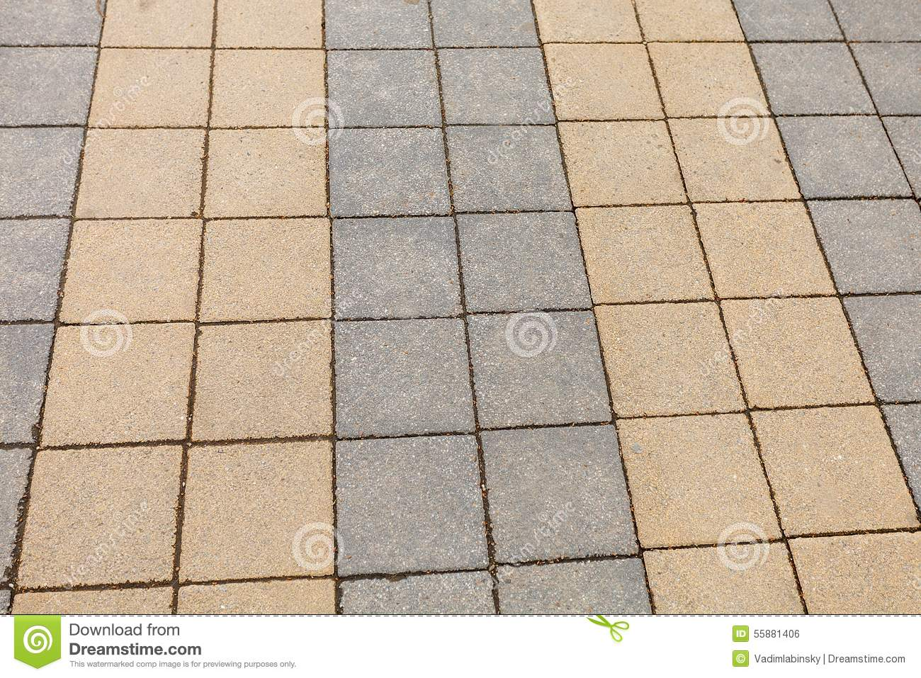 Sidewalk Tile Texture Stock Photo - Image: 55881406