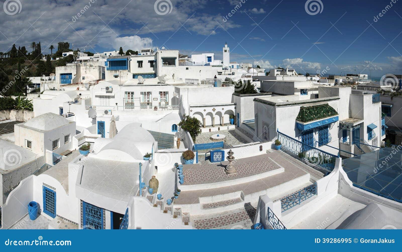 Design Home Plans Sidi Bou Said Panorama Stock Photo Image 39286995