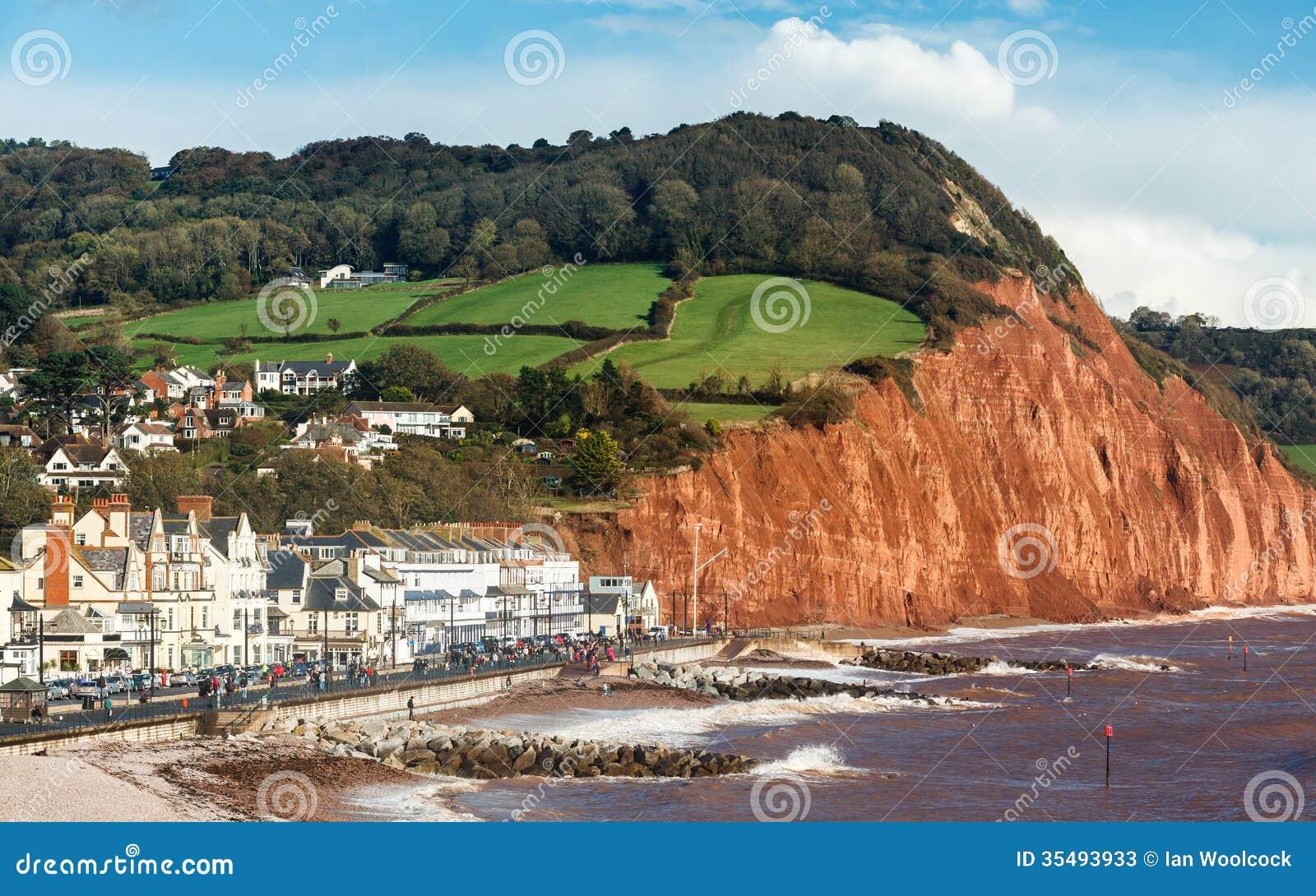 Sidmouth Beach Devon England Stock Photos - Image: 35493933