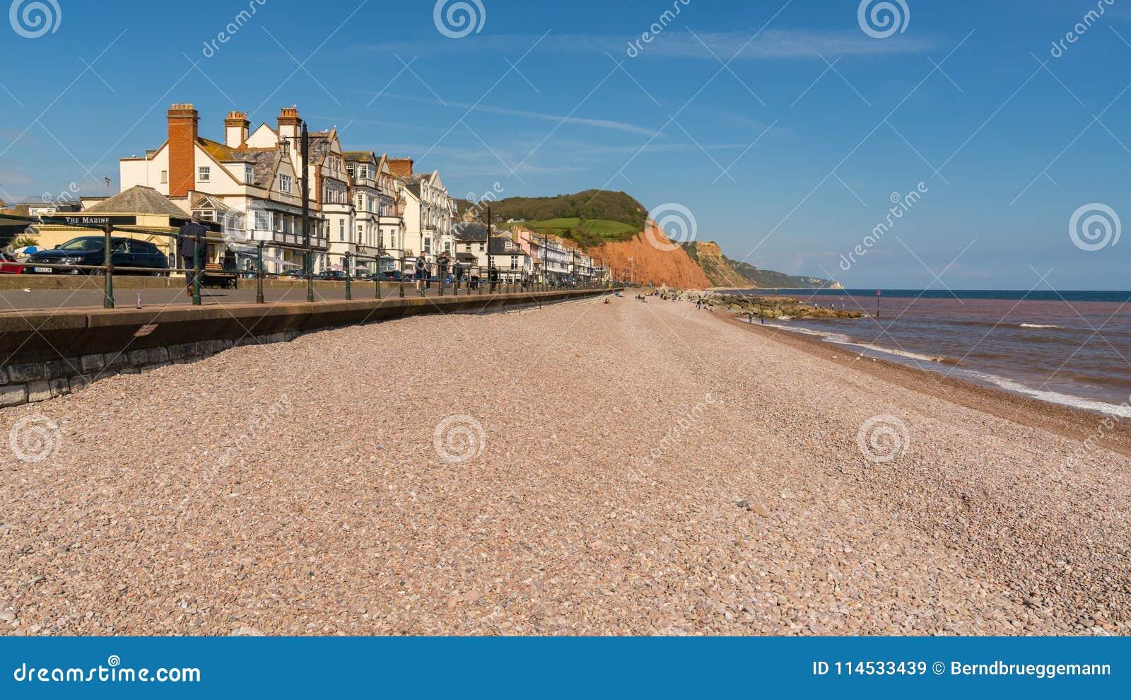 Sidmouth, Jurajski wybrzeże, Devon, UK