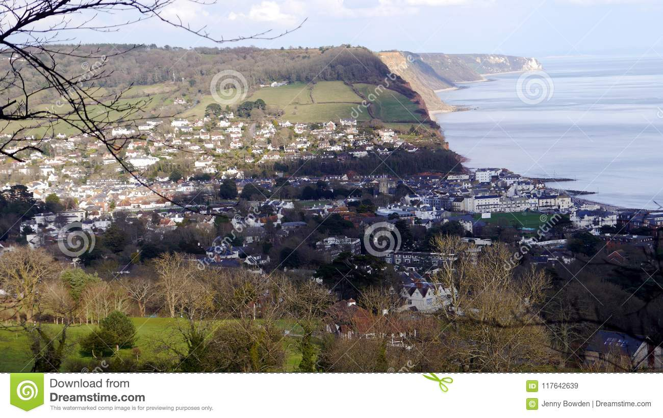 Sidmouth. A popular holiday resort in Devon South West England