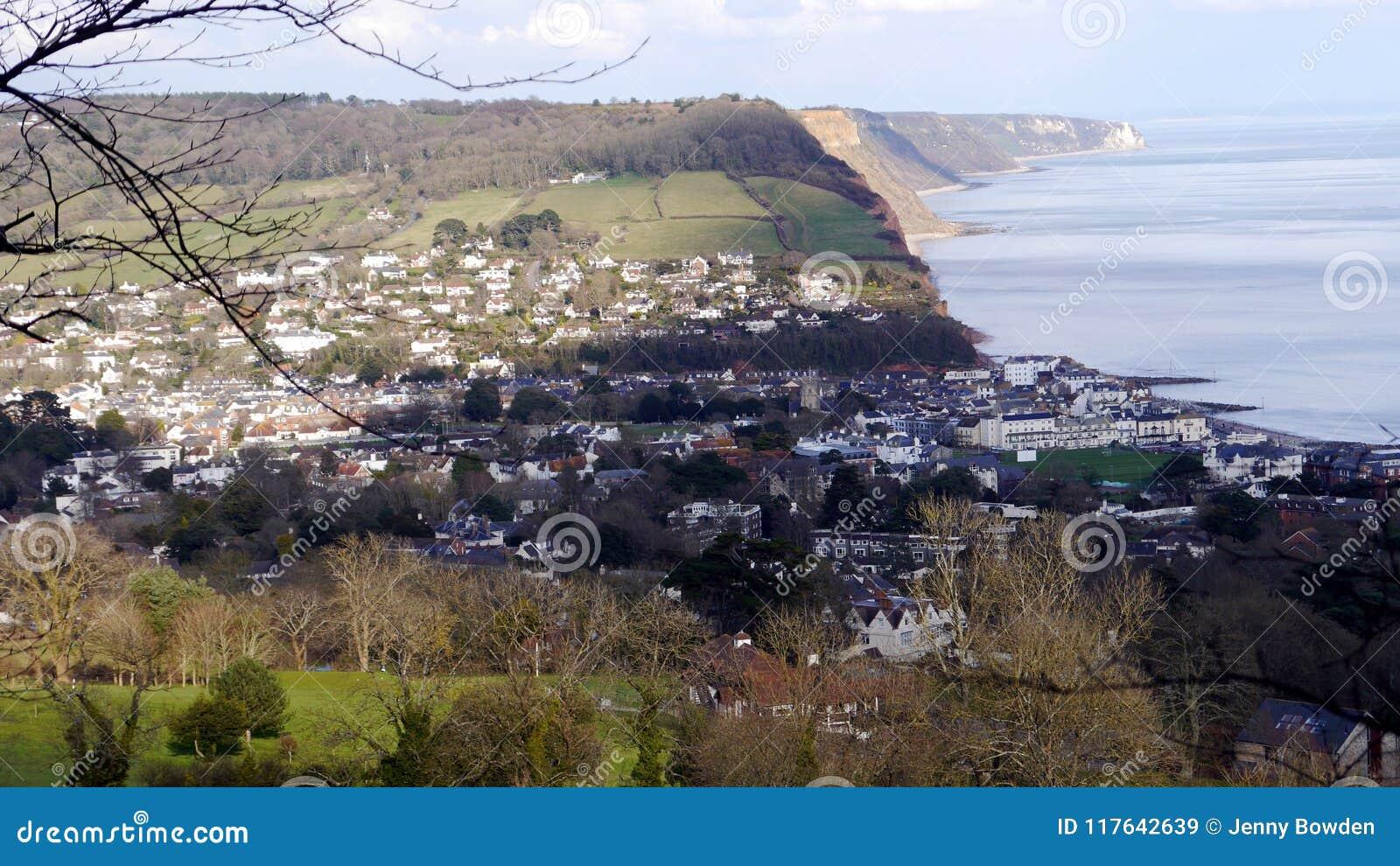 Sidmouth Un centro di villeggiatura popolare in Devon South West England