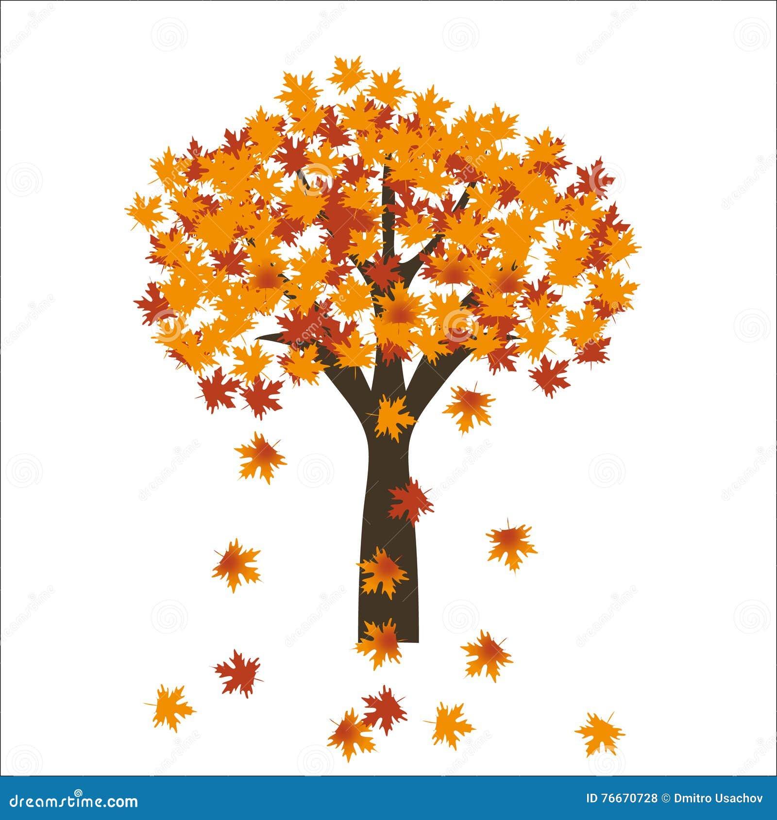 Sidor för höstlönnträd på ljus bakgrund 10 eps