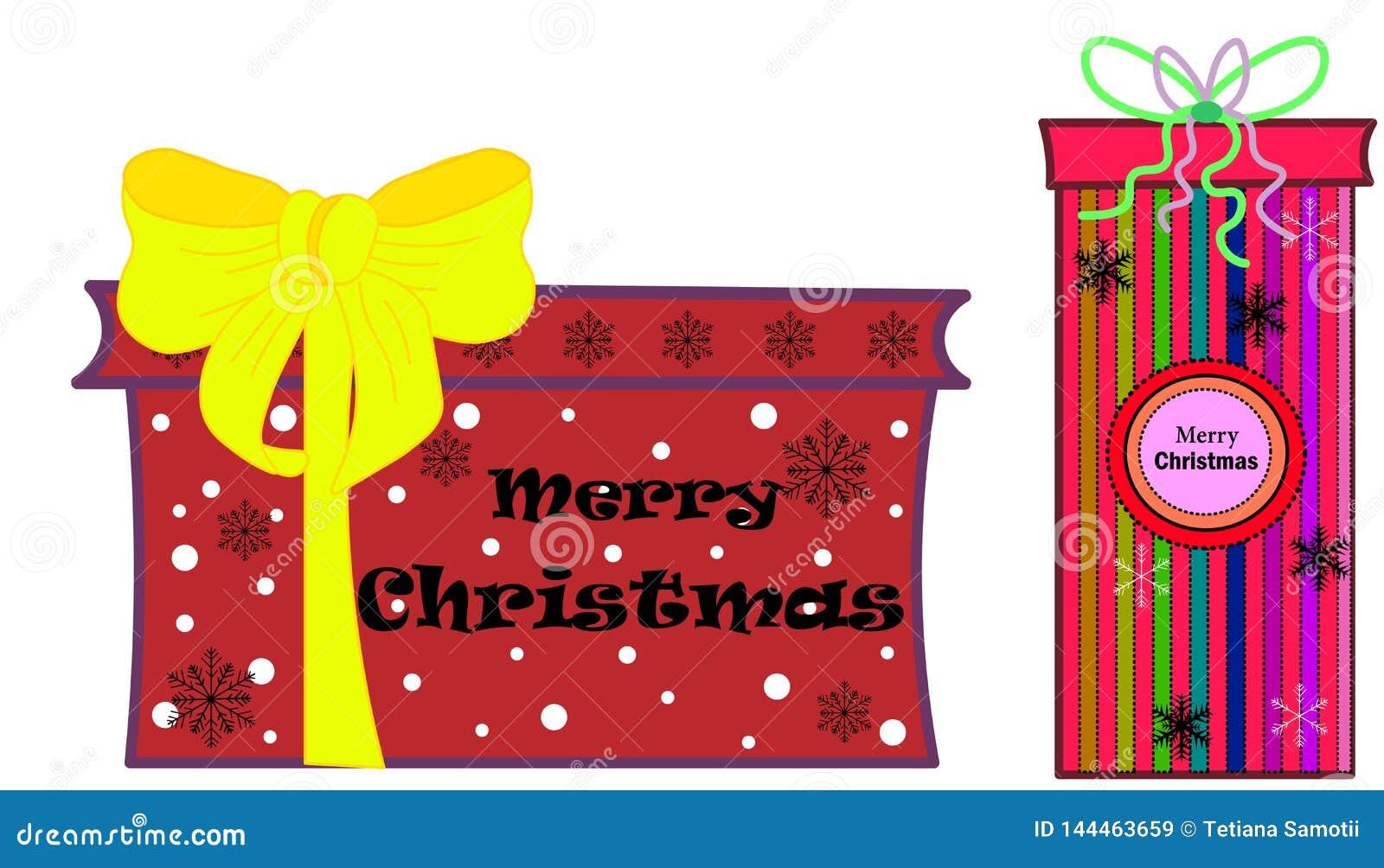 Sieć Bożenarodzeniowy skład na drewnianym tle Xmas dekoracji projekt, pudełkowaty prezent, błyskotliwości płatek śniegu, złoto le