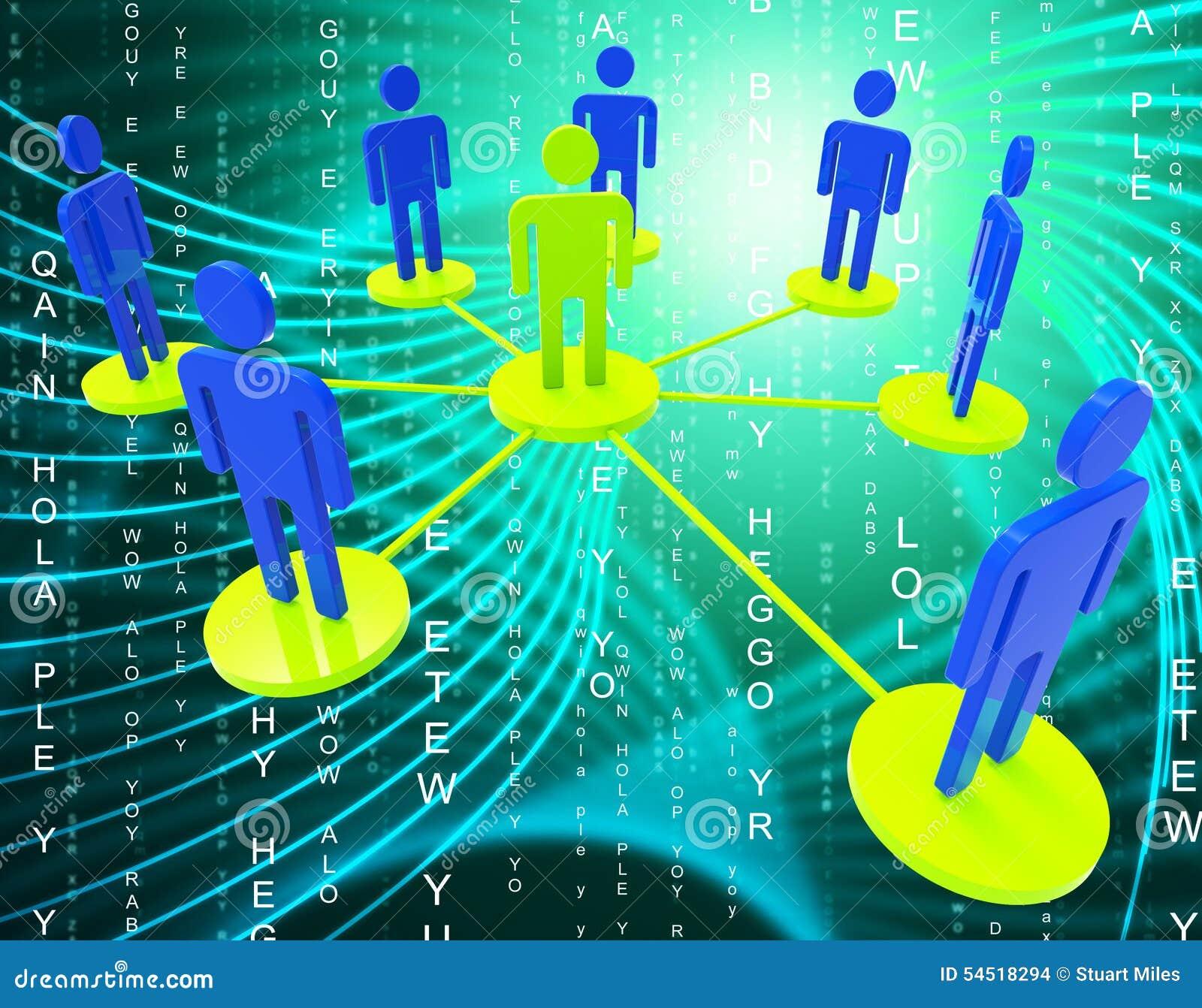 Sieć ludzie sposób Globalnych komunikacj I Komunikuje