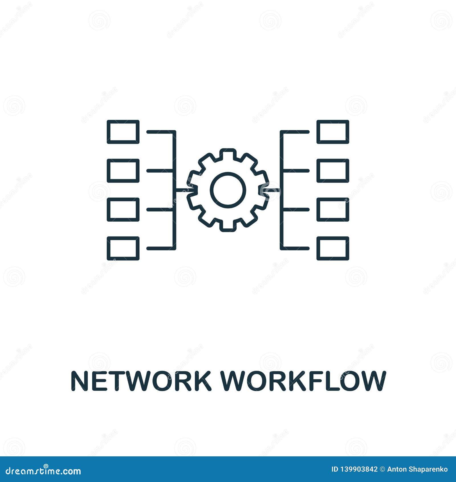Sieć obieg konturu ikona Cienieje kreskowego styl od dużych dane ikon inkasowych Piksel doskonalić prosta element sieć