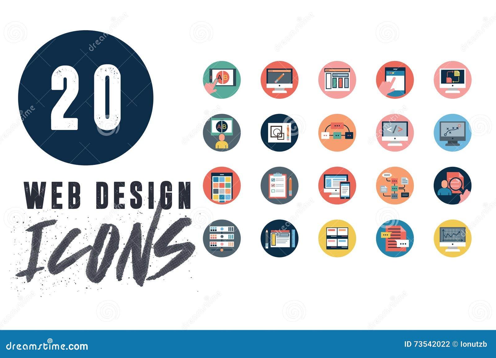 20 sieć projekta ikon Ustawiających
